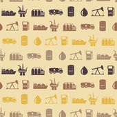 Seamless background with oil and petroleum theme — Stockvektor
