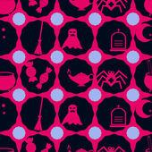 Bezszwowe tło z symboli Halloween — Wektor stockowy