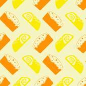 Seamless background with breakfast symbols — Stockvektor