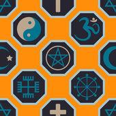 Seamless background with religious symbols — Stockvektor