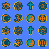 Seamless background with religious symbols — Stock Vector