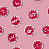 Seamless background with shopping icons — Stock Vector