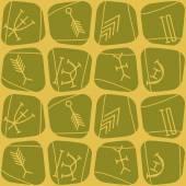 Seamless background with nsibidi symbols — Stock Vector