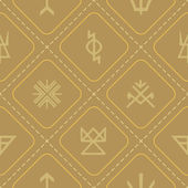 Seamless background with Slavic pagan symbols — Stock Vector