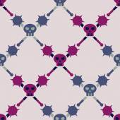 Seamless background with skulls — Stock Vector