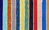 Striped homespun mat — Stock Photo