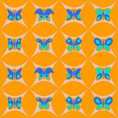 бесшовный фон с бабочкой — Cтоковый вектор