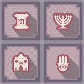 Seamless background with Jewish symbols — Stockvektor