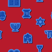 Seamless background with Jewish symbols — Stockvector