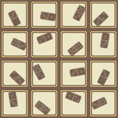 Sömlös bakgrund med Domino — Stockvektor