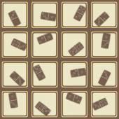 Bezešvé pozadí s Domino — Stock vektor