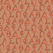 Seamless background with letters of the Greek alphabet — Stockvektor