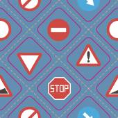 Seamless background with traffic signs — Stock vektor