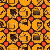 Seamless background with cinema symbols — Stock Vector