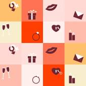 Seamless background withwedding icons — Stock Vector