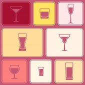 Seamless background with Drink glass — ストックベクタ