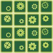 Seamless background with gear — Stockvektor
