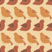 Fondo transparente con aves — Vector de stock