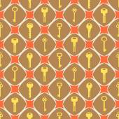 Seamless pattern with keys — Stock Vector