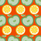 Seamless background with fruits — Stock Vector