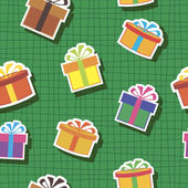 Seamless abstract checkered background with presents — Cтоковый вектор