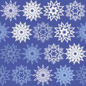 Seamless geometric pattern with winter theme — Stockvektor