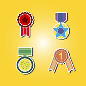 Set of color icons with awards symbols — ストックベクタ