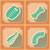 Seamless background with Springs — Stock Vector