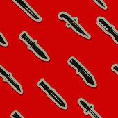 Savaş bıçak ile sorunsuz arka plan — Stok Vektör