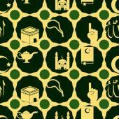 无缝背景与伊斯兰的图标 — 图库矢量图片