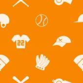 Naadloze achtergrond met honkbal pictogrammen — Stockvector