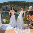 Two brides standing on terrace — Stock Photo #52243679