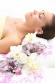 Spa - woman at massage — Stock Photo