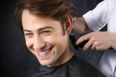 The guy at the hairdresser — Stock Photo