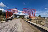 Construction of railway platform — Stock Photo