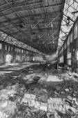 Abandoned factory hall — Stock fotografie