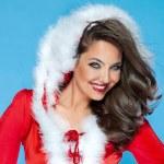 Attractive girl as a santa claus — Stock Photo #57873253