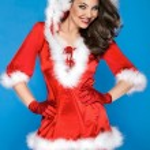 Sexy girl wearing santa claus clothes — Stock Photo #57873731