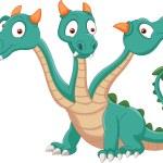 Cute three headed dragon — Stock Vector #53337453