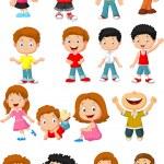 Happy kid cartoon collection — Stock Vector #53338395