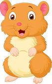 Cute hamster cartoon — Stock Vector