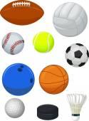 Sport balls collection — Stock Vector