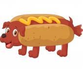 Hot Dog Cartoon Character — Stock Vector