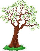 Yeşil pus olan ağaç. — Stok Vektör