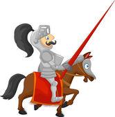 Cartoon knight — Stock Vector