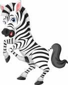 Cartoon zebra — Stock Vector