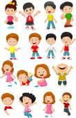 Happy kid cartoon collection — Stock Vector