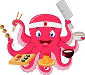 Octopus chef — Stock Vector