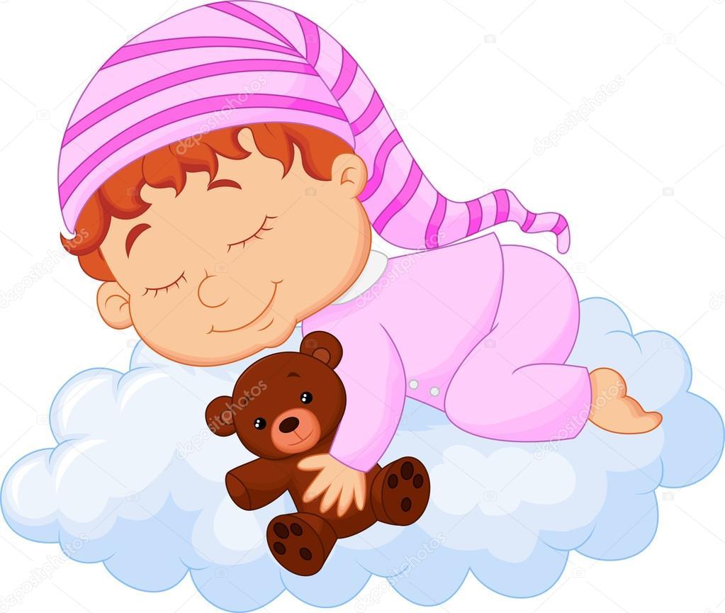 Bebe Durmiendo en Nube Dibujo Bebé Durmiendo en la Nube