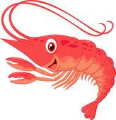 Cute shrimp cartoon — Stock Vector